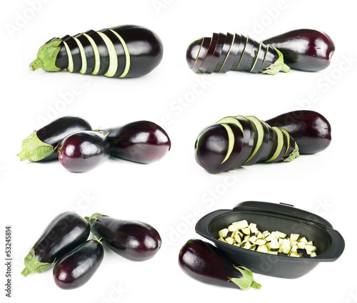 Set of eggplants