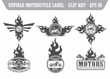 chopper motorbike label set