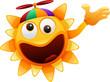 happy sun character funny