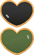 heart shaped black boards