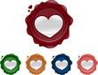 heart shaped wax seals