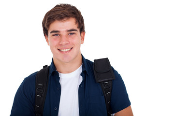 portrait of young smiling cute teenager boy