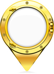 map pointer icon porthole shaped