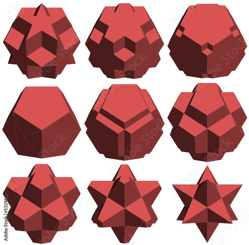 Hedra Star Transformation Structure Shape Vector 17