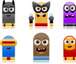 happy superhero monsters set 2