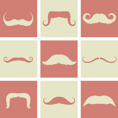 mustaches retro design