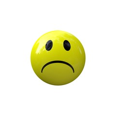 Smiley sad yellow