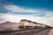 Freight train in Arizona desert landscape - 53248009
