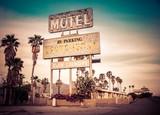 Roadside motel sign - decayed iconic Southwest USA - 53248016