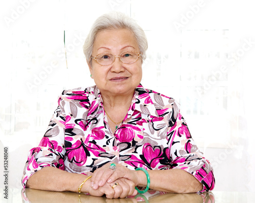 portrait of asian senior woman