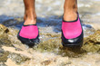 Water shoes in Pink neoprene