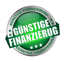 Icon Button Günstige Finanzierung grüne Typografie