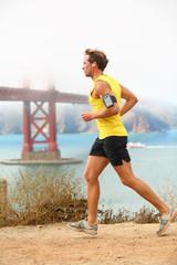Man jogging - male running in San Francisco