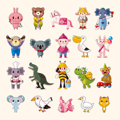set of animal icons