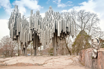 Monument to composer Sibelius