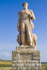Monumento al pastor, en las Bardenas Reales, Navarra. España.