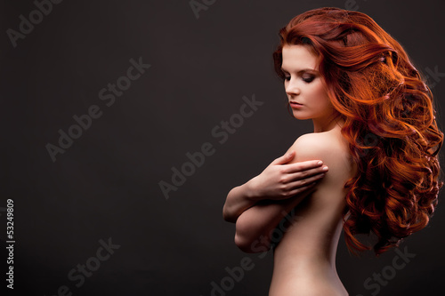 naked woman with red hair