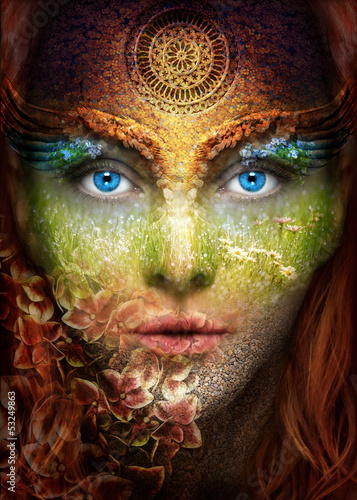 canvas print picture nature woman
