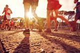 Fototapety people running marathon