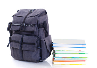 backpack with book
