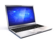 Modern Laptop isolated on white background - 3d render