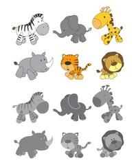 cartoon animal art