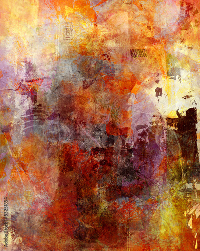 canvas print picture mixed media malerei