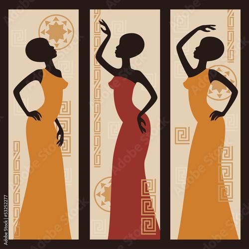 vektorbild-der-afroamerikanerfrau-triptychon