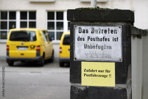 Posthof betreten verboten