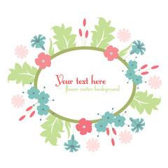 cute floral design background