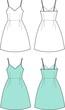 Vector fashion illustration of romantic summer dress