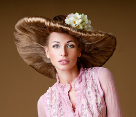magnificent woman in a hat