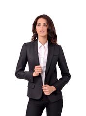 девушка в деловом костюме, бизнес-леди