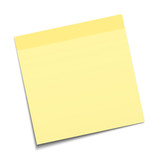 Yellow Stick Note on white background