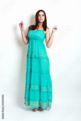 Girl in summer dress