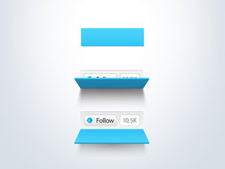 social media follow button and counter