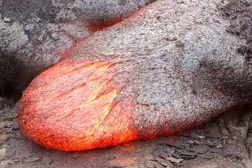 Fluid lava tongue