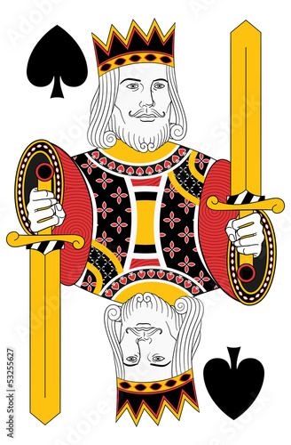Kings of Spades without card. Oriinal design