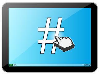 Tablette : Hashtag