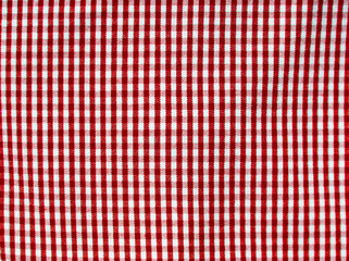 Red square fabric pattern for background