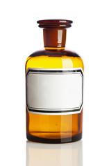 Old pharmacy bottle, blank label