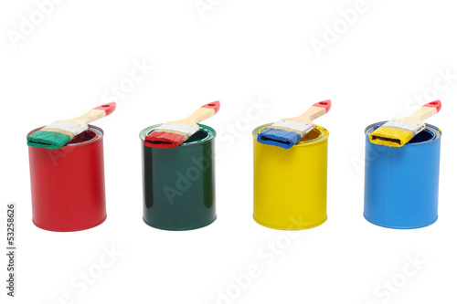 Bunte Farbdosen Komplementär