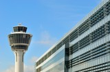 Control tower at Munich Airport, Germany