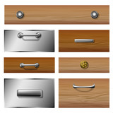 Drawer front set