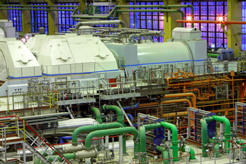 Power plant interior