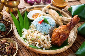 Nasi kerabu or nasi ulam