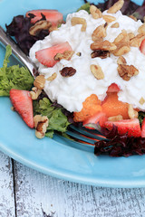 Strawberry and Cottage Cheese Salad