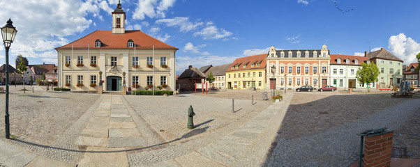 Rathaus in Angermünde als Panoramafoto