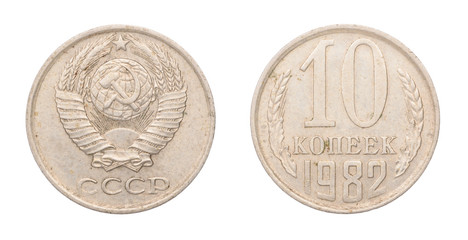 Soviet coin at ten cents