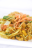 Singapore noodles stir fried.